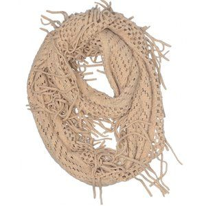 ⏱SALE [a17-19] Mixit | tan fringe infinity scarf